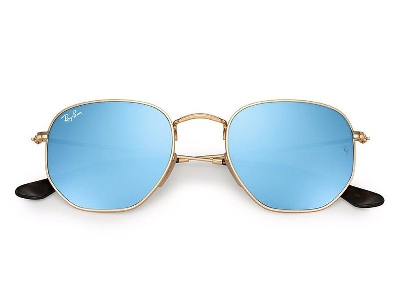 óculos de sol hexagonal ray ban rb 3548n 001 30 tam 51. Carregando zoom. 4c0cb10cab