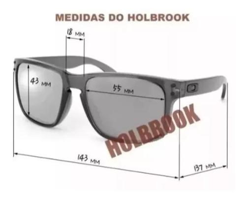 oculos de sol holbrook preto fosco cinza espelhado promoçâo