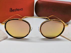 6703c56b4 Óculos De Sol Illesteva Wynwood Ace Rosê Espelhado E Dourado