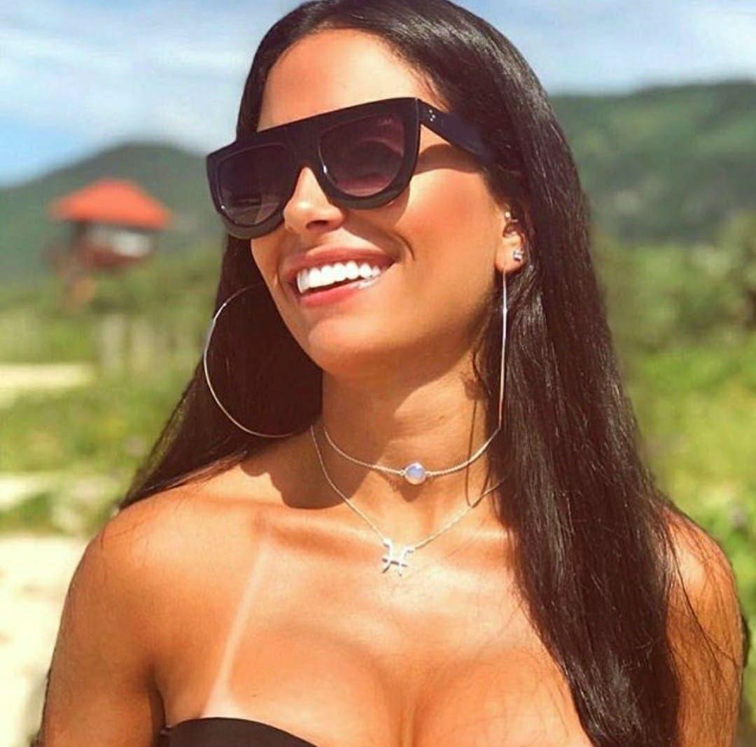 óculos de sol importado feminino marca famosa quadrado lindo. Carregando  zoom. d72d5dffa1
