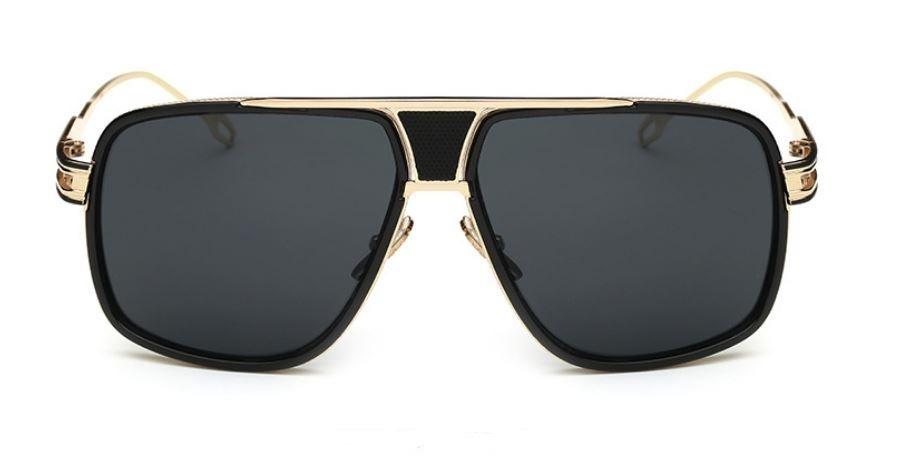 óculos de sol importado grande dourado masculino feminino. Carregando zoom. 6729e429fd