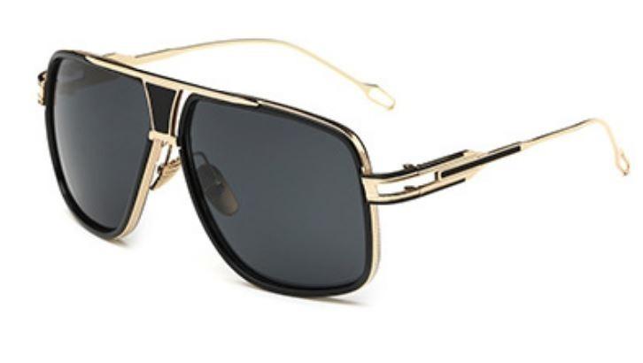 e56a97d4217ea Óculos De Sol Importado Grande Dourado Masculino Feminino - R  79