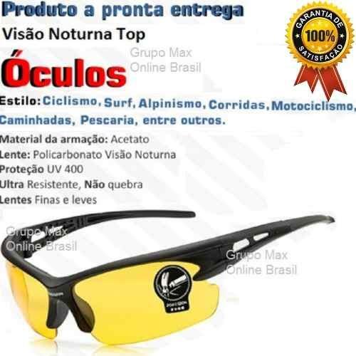 Óculos De Sol Importado Lente Amarela Visão Noturna Promoção - R  37 ... 1292cdcb34
