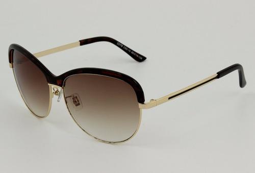óculos de sol importado marrom e dourado modelo vogue aimi