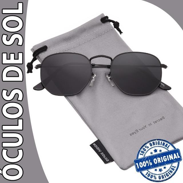 307e7fc61 Óculos De Sol Importado Preto Polarizado Várias Cores Unisex - R ...