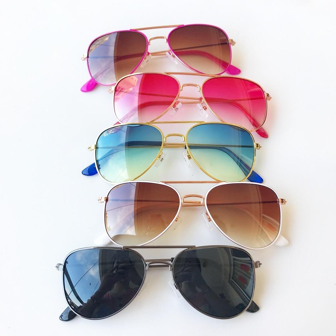 ec37c1b973a0a óculos de sol infantil aviador proteção uv menina e menino. Carregando zoom.