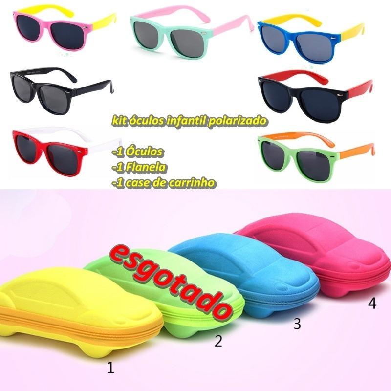 ee56edd49c390 óculos de sol infantil flexível polarizado c  kit completo. Carregando zoom.