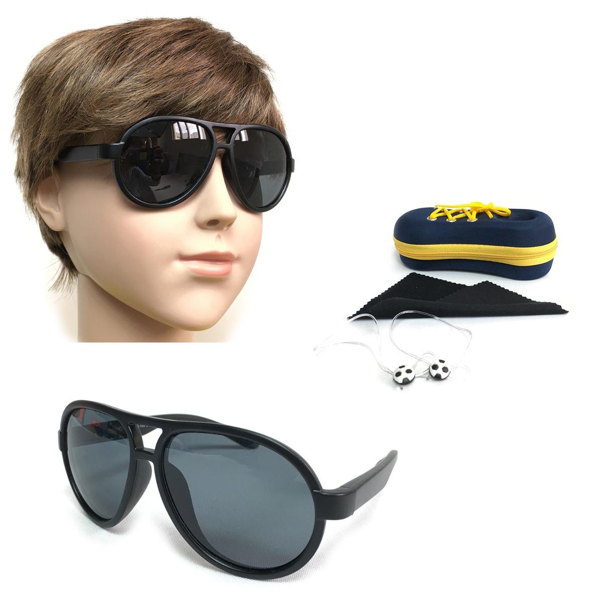 Óculos De Sol Infantil Plastico Silicone Menino T1531 - R  53,46 em ... 5035abed61