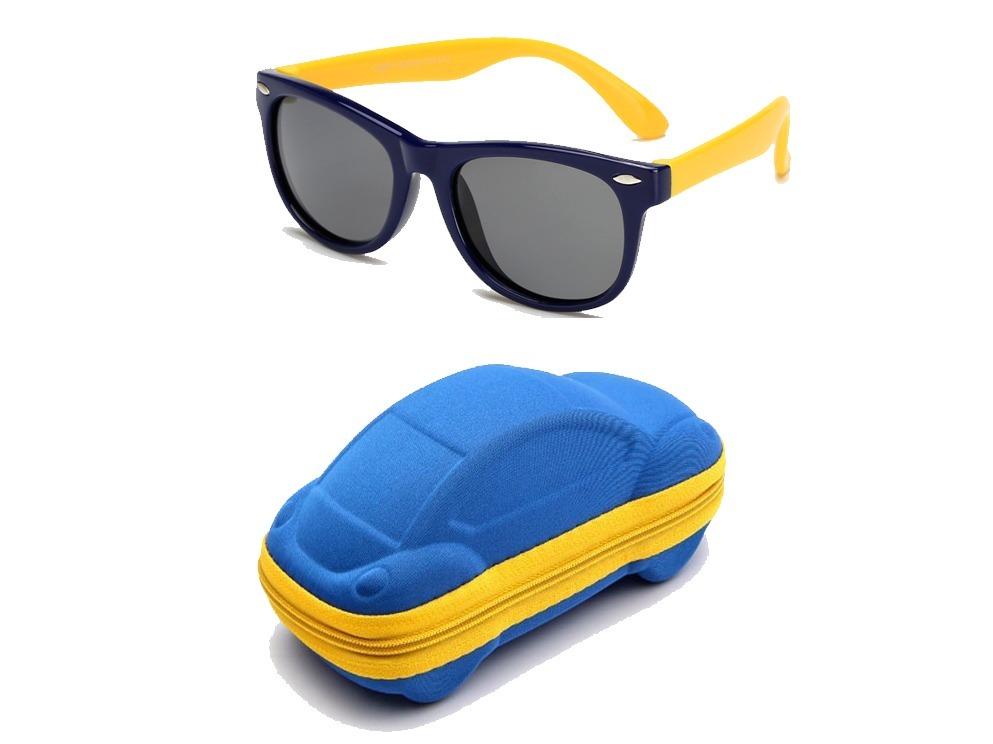 b9d10f9a00d31 óculos de sol infantil polarizado flexível + capinha. Carregando zoom.