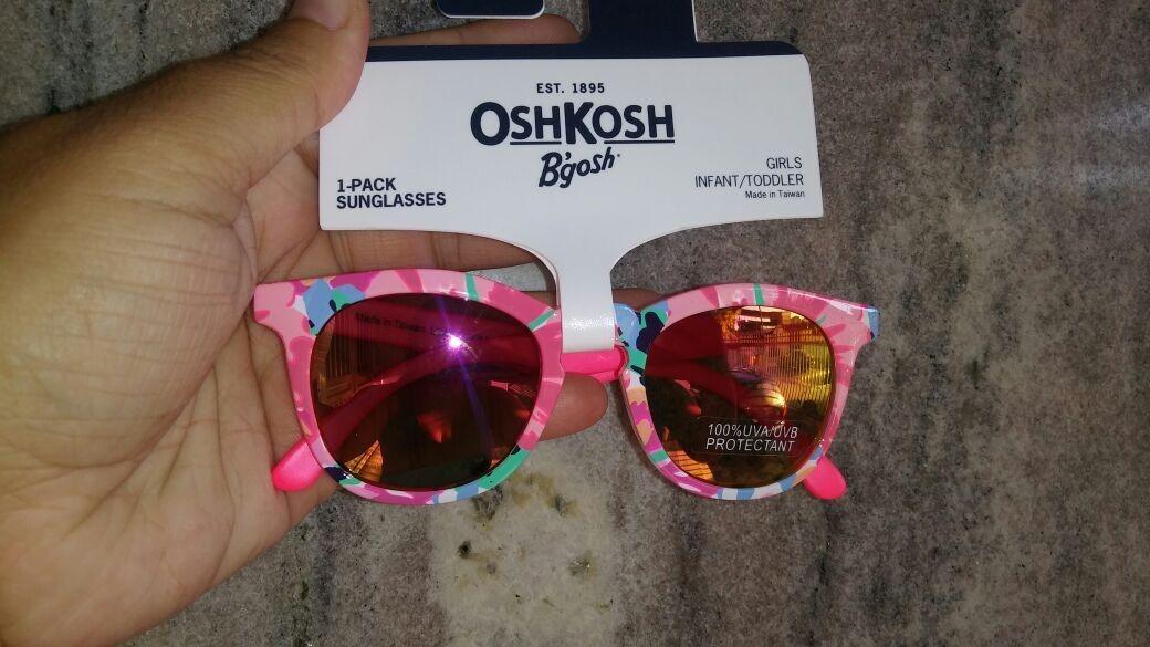 db4e76917 óculos de sol infantil proteção solar carters oshkosh rosa. Carregando zoom.