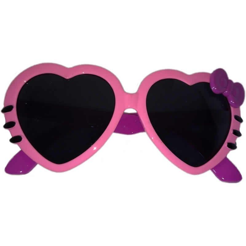 óculos de sol infantil rosa coração kids baby + brinde case. Carregando  zoom. c811f9c7a6