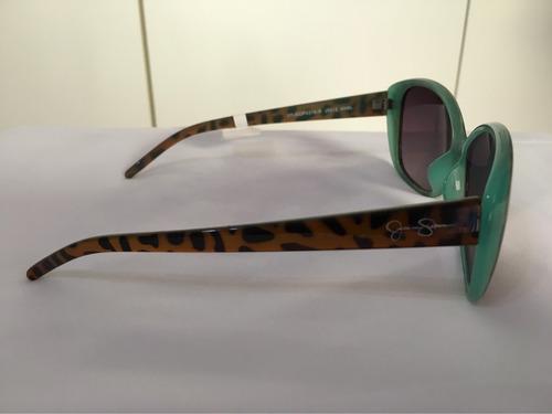 óculos de sol jessica simpson original armação oncinha