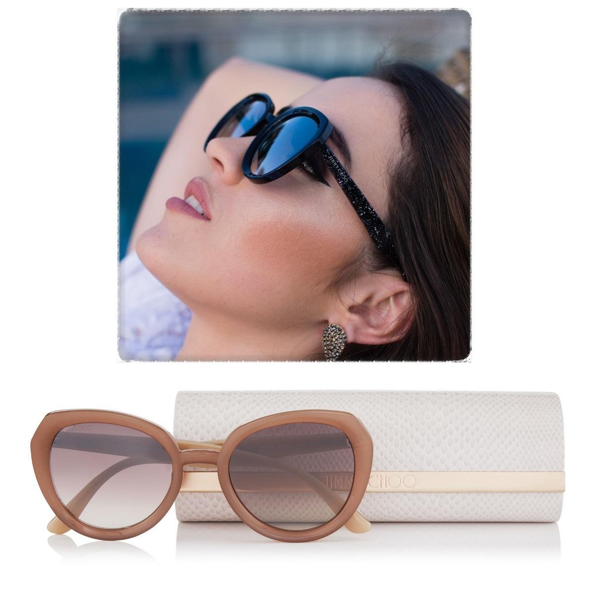 26936a686 Óculos De Sol Jimmy Choo Mace Round Lançamento Glitter - R$ 499,00 ...