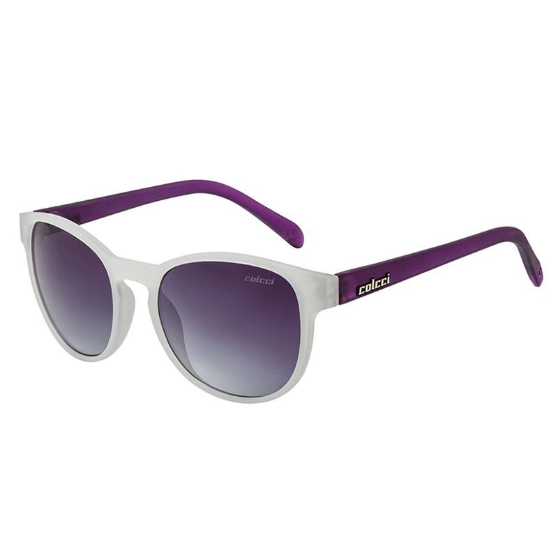 fa83046cf Óculos De Sol June Branco E Roxo Fosco Colcci - R$ 180,09 em Mercado ...
