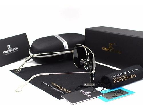 óculos de sol kingseven® aviador polarizado uv 400 - oferta
