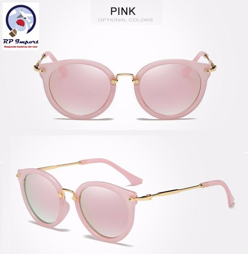 4097f3f39ed5c óculos de sol kingseven feminino redondo rosa polarizado. Carregando zoom.