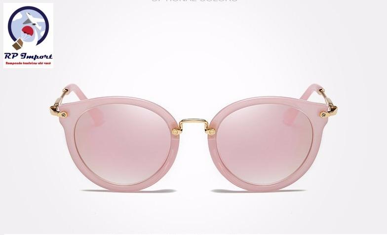 789623873b325 Óculos De Sol Kingseven Feminino Redondo Rosa Polarizado - R  89,49 ...