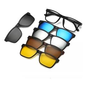 Óculos De Sol Kit 5 Em 1 Oculos Com Frentes Variadas Clip On