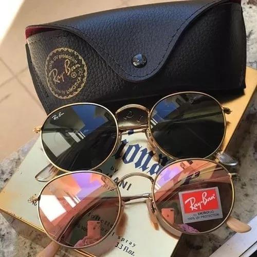 5e2c13e22883c Oculos De Sol Kit C 2 Redondo De Cristal Cores Variadas - R  89