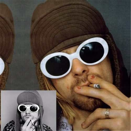 46688dbb17908 Óculos De Sol Kurt Cobain Masculino Feminino Proteção Uva - R  38,00 em  Mercado Livre