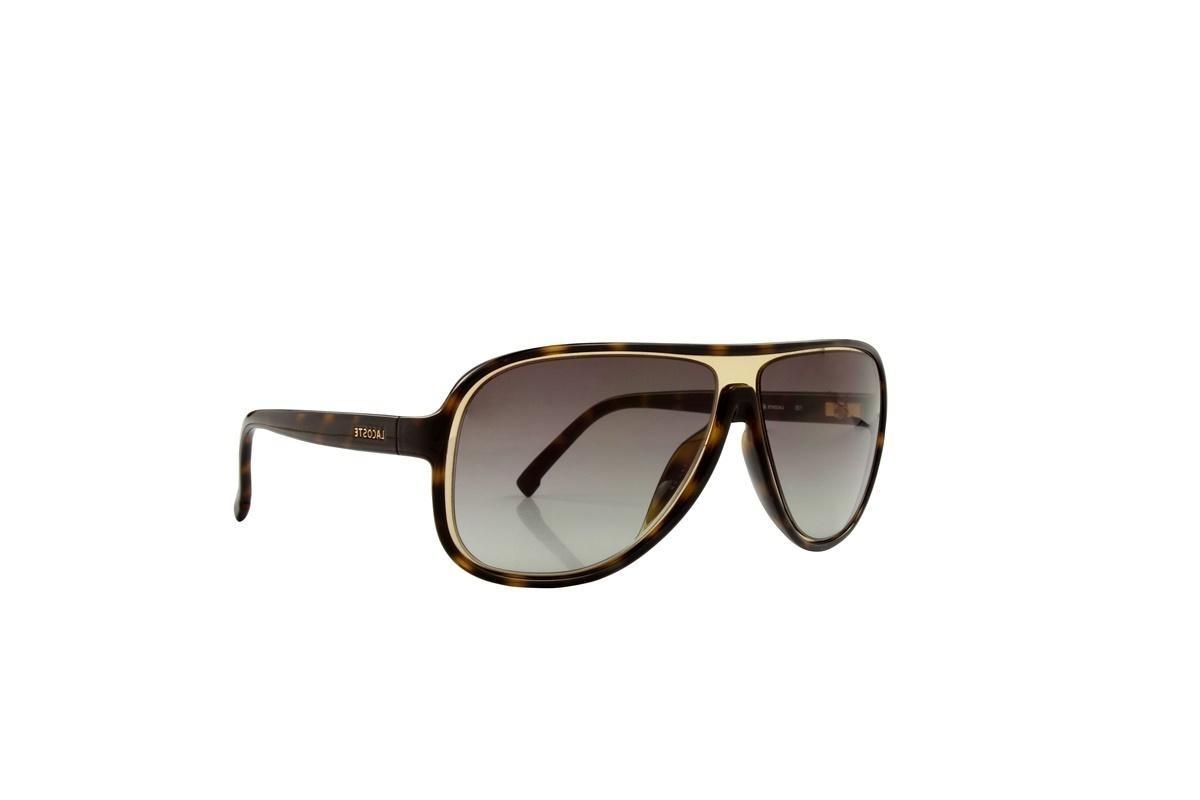 3ea765ec90184 óculos de sol lacoste 100% proteção uv tartarugado e dourado. Carregando  zoom.