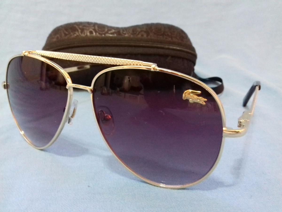 9b0abae29e8d0 óculos de sol lacoste dourado - novo. Carregando zoom.