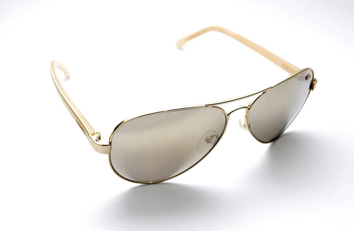 Óculos De Sol Lacoste L163s Aviador Dourado - R  741,00 em Mercado Livre f97275ab9e