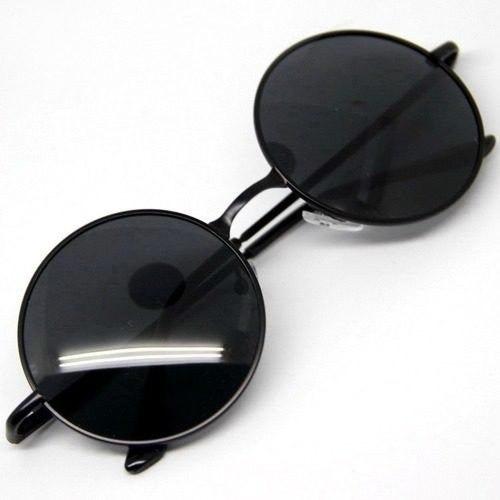 Óculos De Sol Lennon Ozzy Armação E Lente Preta Redondo - R  29,95 ... 417b3cab47