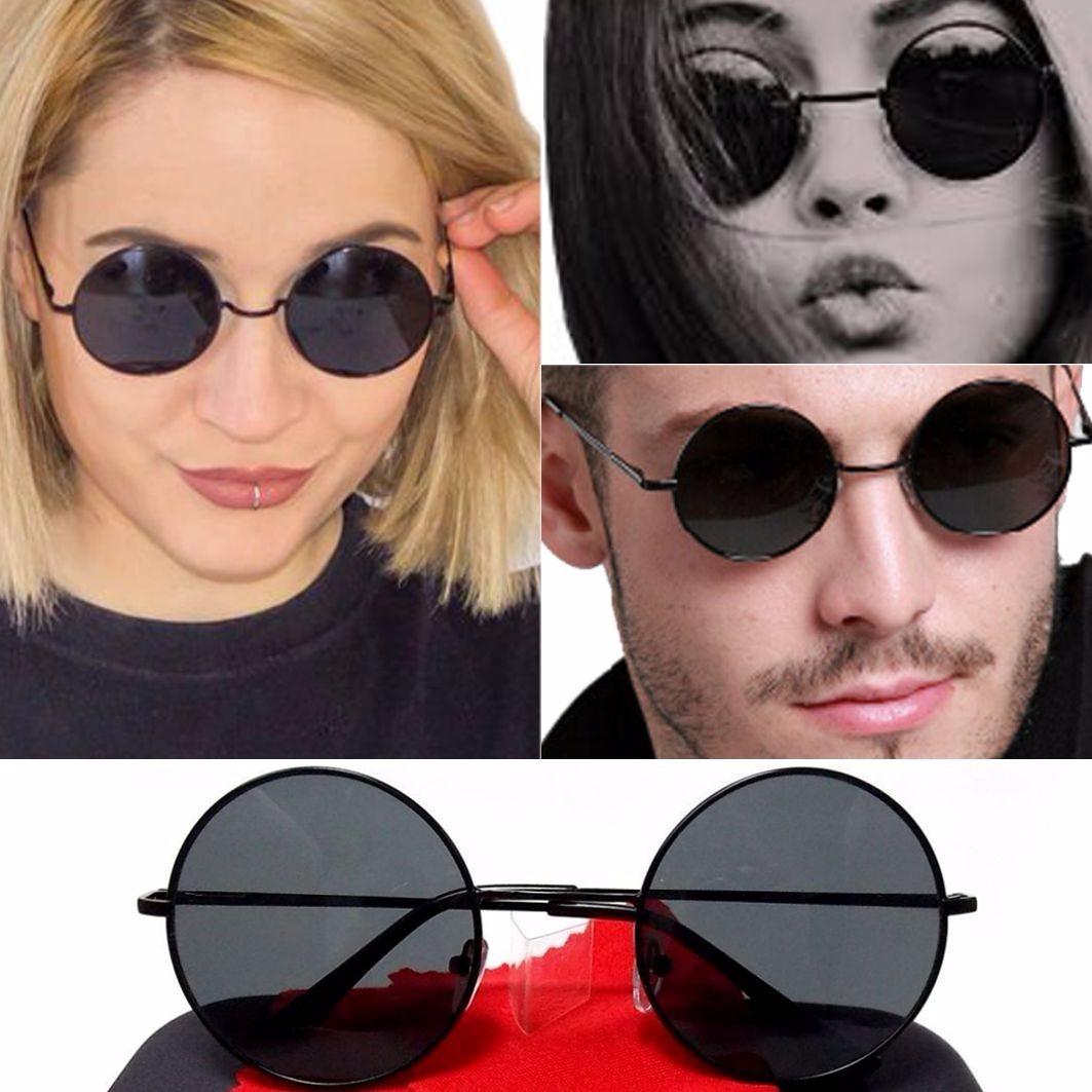 óculos de sol lennon ozzy armação e lente preta redondo. Carregando zoom. 8b720cca30