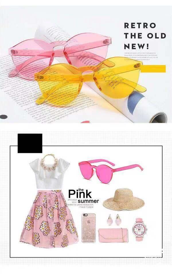 d83d09ad9 Óculos De Sol Lente Colorida Transparente - R$ 28,99 em Mercado Livre