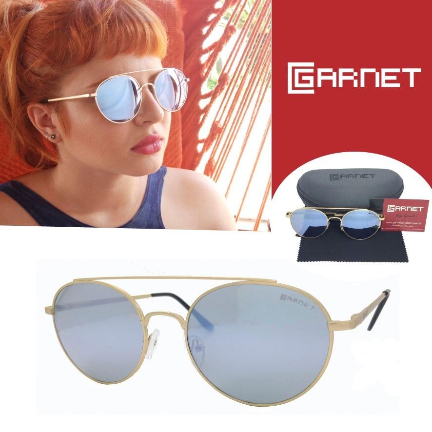 87b93ce34 óculos de sol lente uva redondo fashion espelhado azul. Carregando zoom.