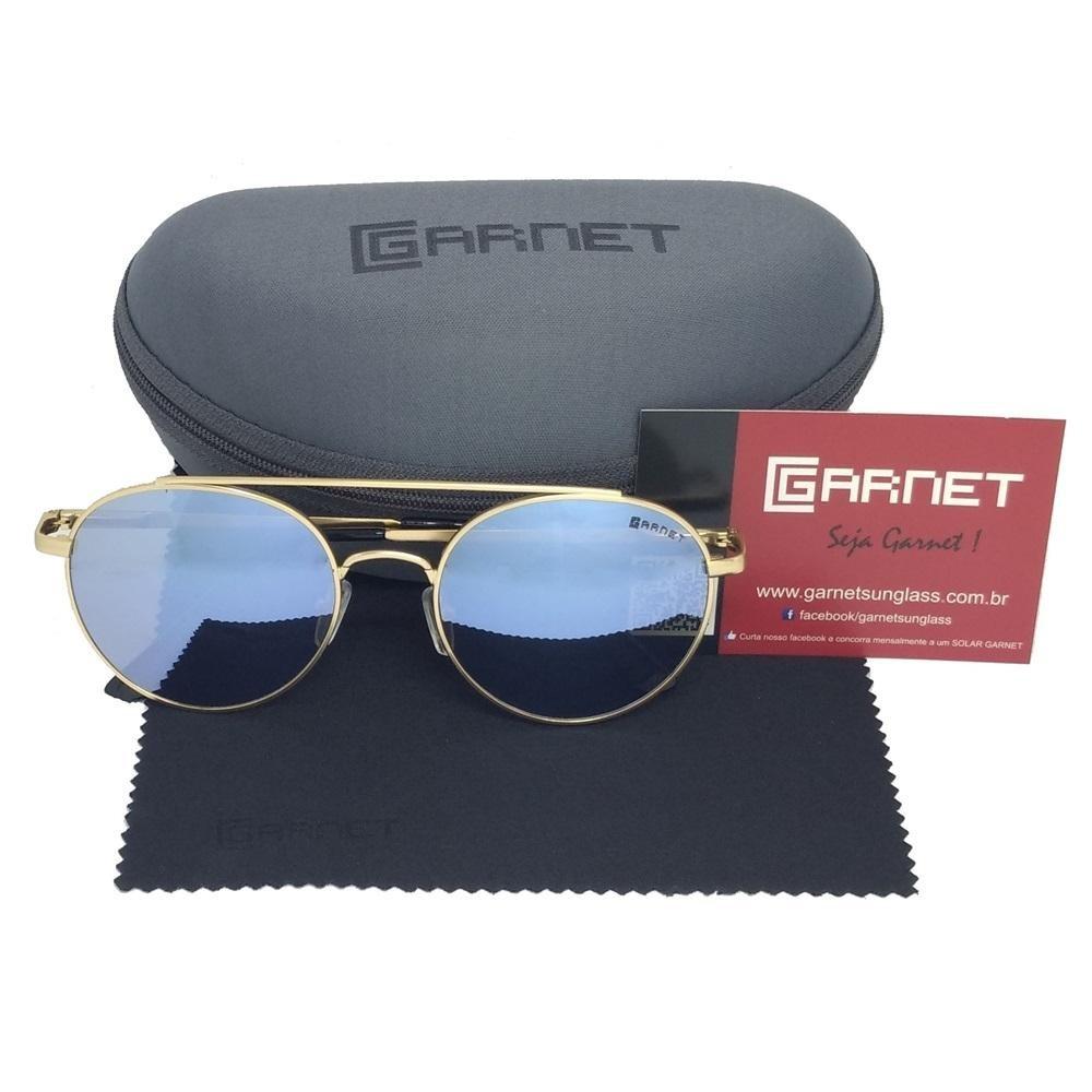 9f8655d021fe7 Óculos De Sol Lente Uva Redondo Fashion Espelhado Azul - R  89,00 em ...