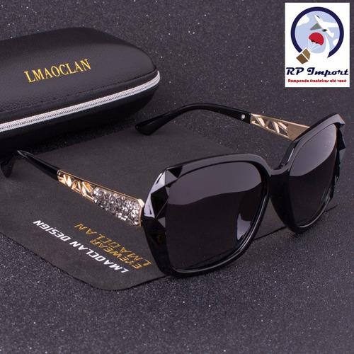 927f8abefc0f2 Óculos De Sol Lmaoclan Luxury Marrom Preto Roxo Polarizado - R  89 ...