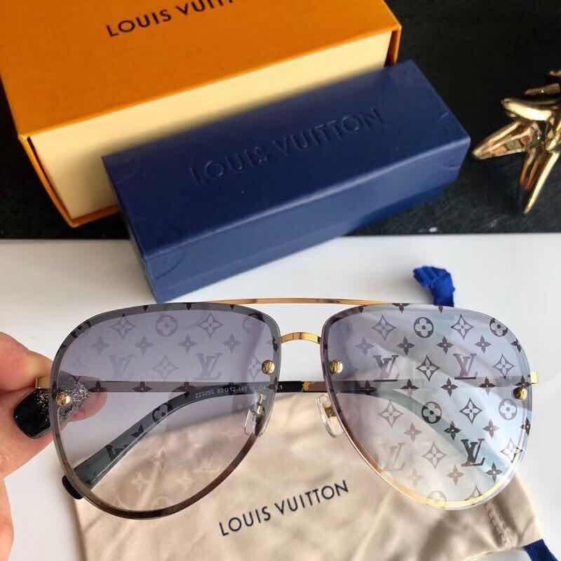 2729268c35675 Óculos De Sol Louis Vuitton Máscara Com Logo Na Lente - R  489