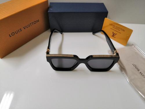 óculos de sol louis vuitton millionaire preto e dourado
