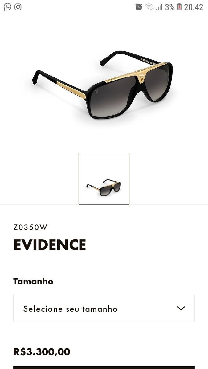 7864004b7 Oculos De Sol Louis Vuitton Original - R$ 600,00 em Mercado Livre