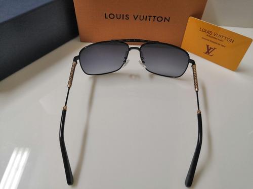 óculos de sol louis vuitton z0921 preto e dourado unissex