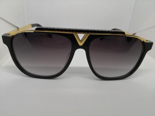 óculos de sol louis vuitton z0936e mascot dourado e preto