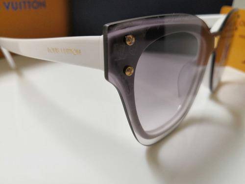 óculos de sol louis vuitton z2380e branco e lentes degradê