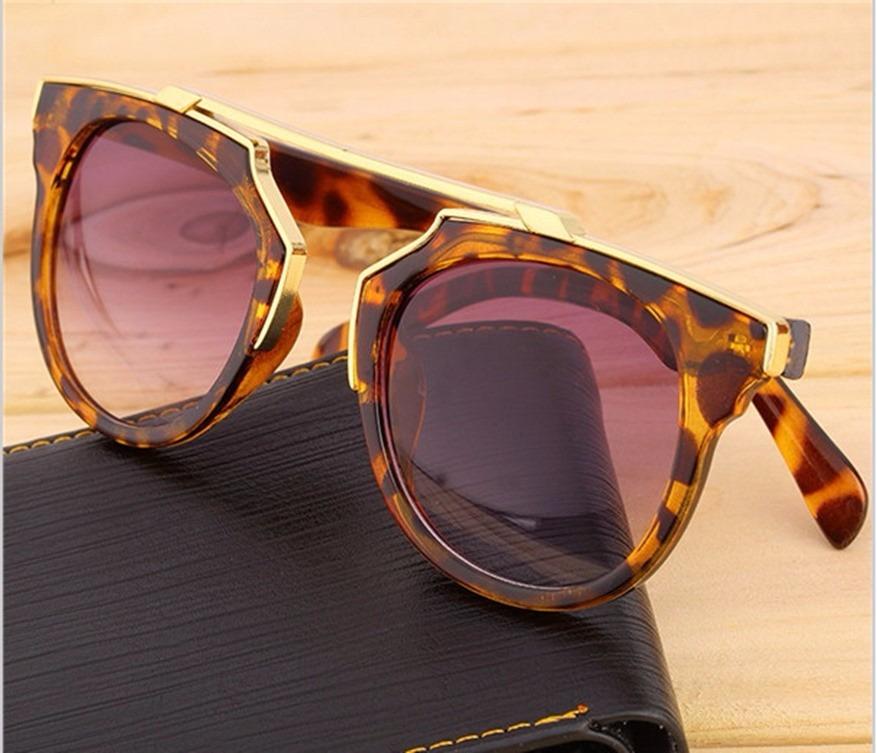 e95ba7272 Óculos De Sol Luxo Feminino Crist D So Real Onça Espelhado - R$ 43 ...