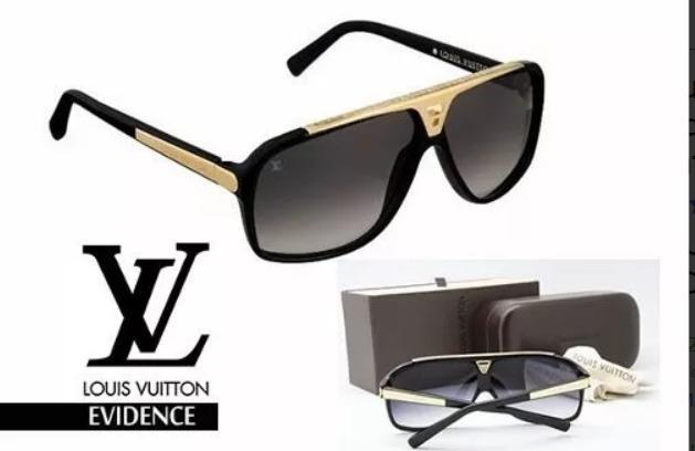 ffda0f4f730e8 Oculos De Sol Lv Louis Evidence Premium Lente Cristal - R  389