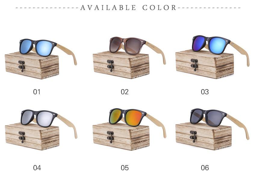 3e0f7348c Óculos De Sol Madeira Adulto Preto - Bemucna - Stocklar - R$ 79,99 ...
