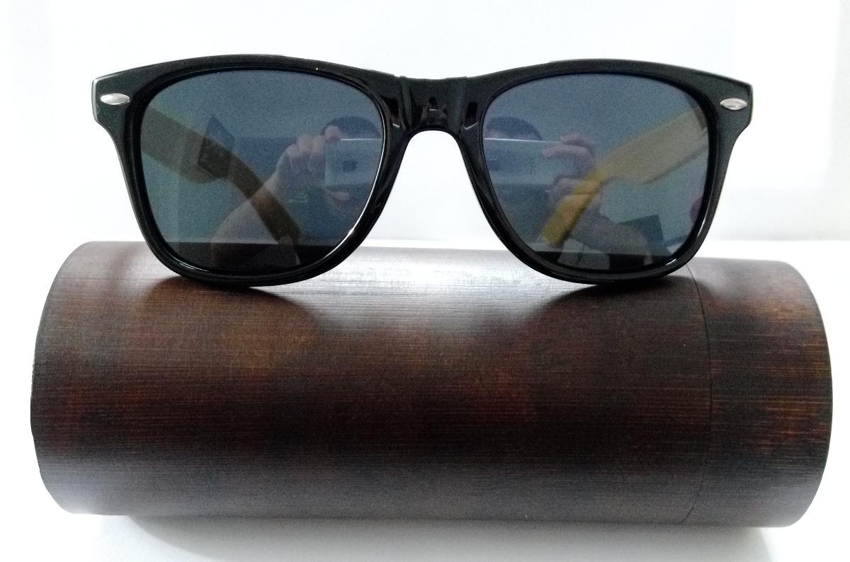 4baf7ff03e3fa Óculos De Sol Madeira Bambu Com Lentes Polarizadas + Case - R  49,90 ...