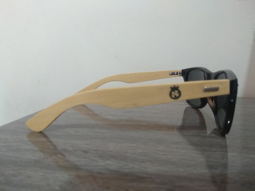 óculos de sol madeira bambu uv400 unissex dreams logo