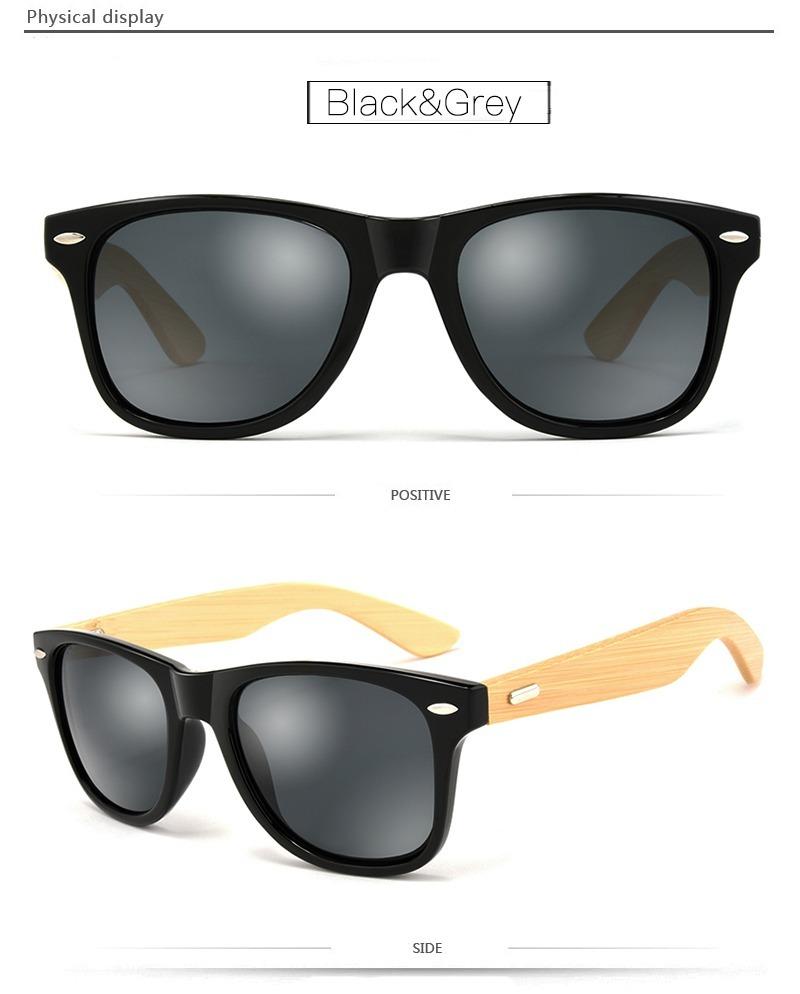 f6712eec91114 Óculos De Sol Madeira bambu Black Hdcrafter Original - R  99