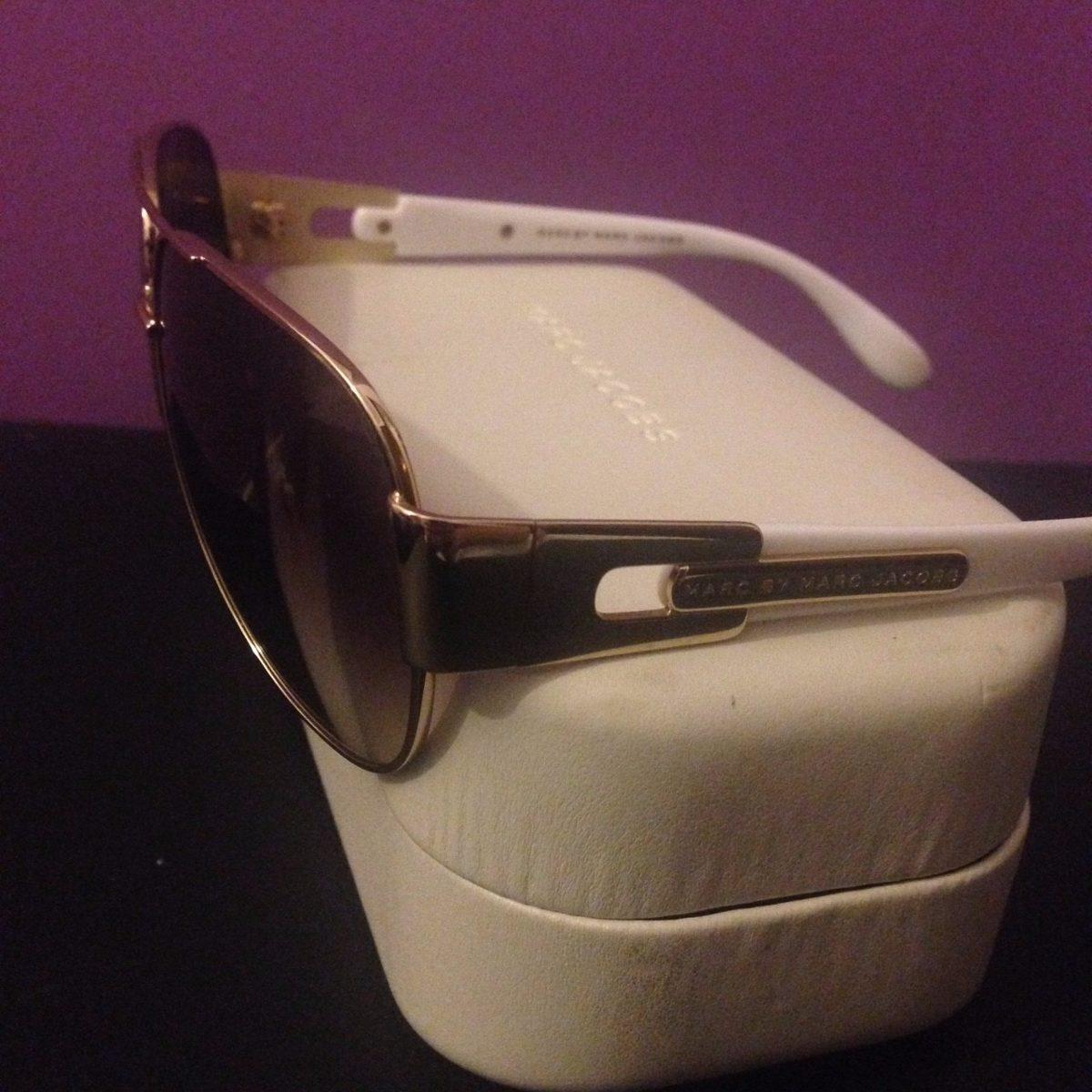 955f4e3b1 Óculos De Sol Marc By Marc Jacobs Dourado/branco 107/s 0j5g - R$ 299 ...