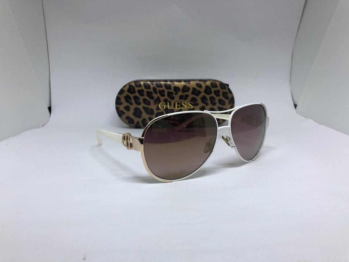 2629f3b83 Oculos De Sol Marca Guess Modelo Aviador Branco - R$ 250,00 em ...