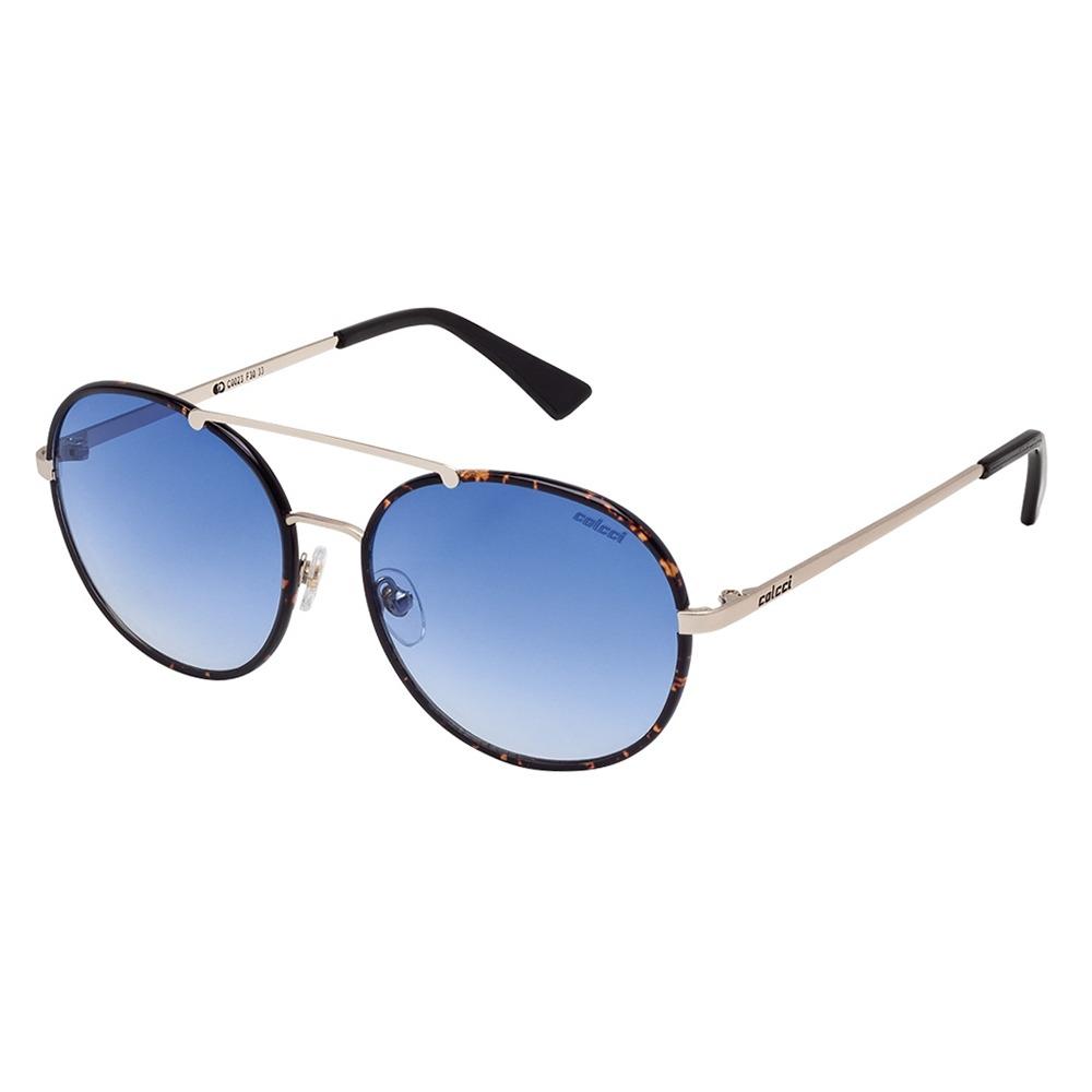 6fd60a7920b09 Óculos De Sol Marrom Demi E Dourado Brilho C0023f3033 Colcci - R ...