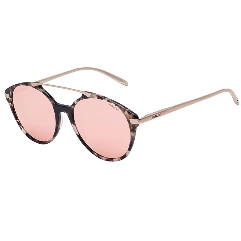 4b9e5aeb3ade6 Óculos De Sol Marrom Demi Fosco E Marrom Com Rosa Colcci - R  299,00 ...