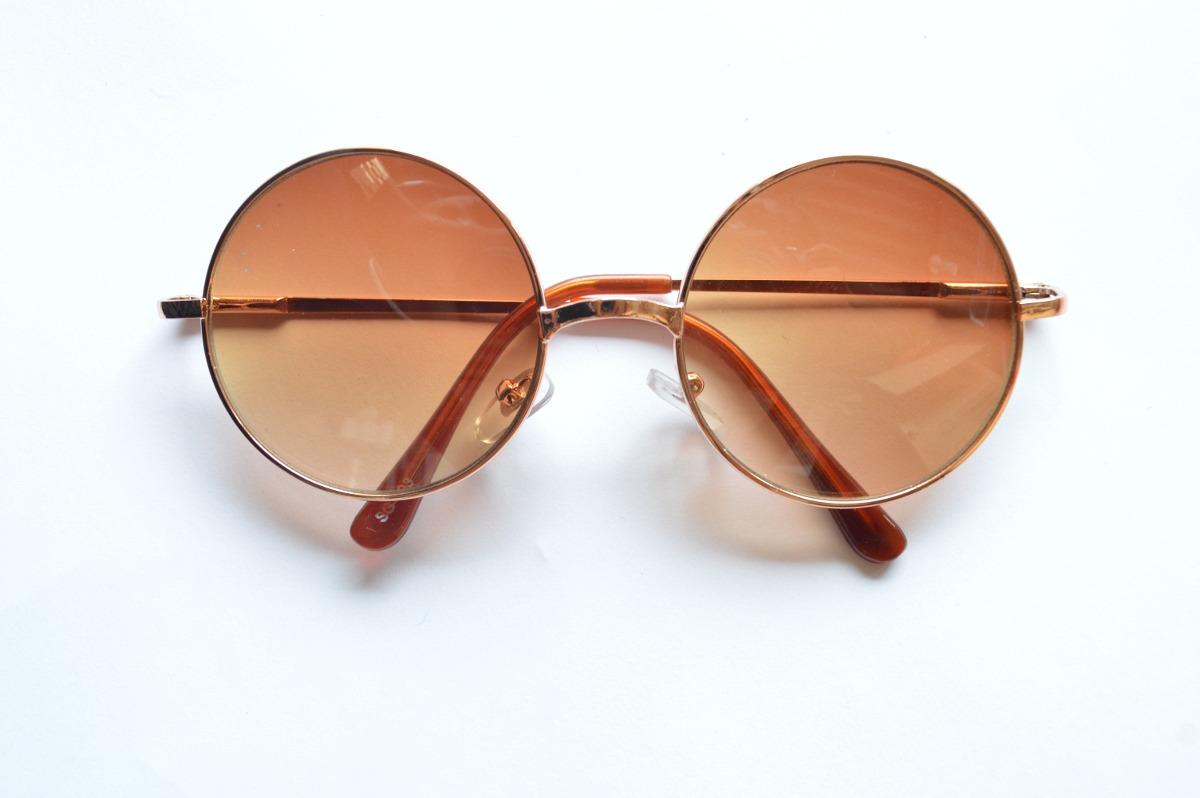 e2aa3de294315 Óculos De Sol Marrom Redondo Unissex Lindo Estiloso - R  49,99 em ...